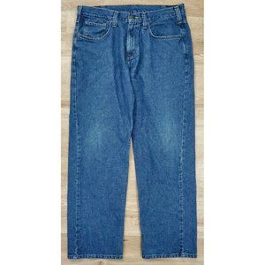 Carhartt Mens B350 Relaxed Fit Blue Jeans Size 34